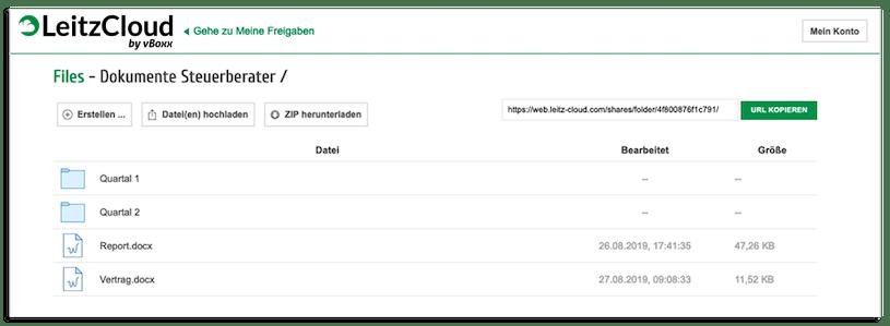 Leitz Cloud Dokumente für Gastnutzer anzeigen