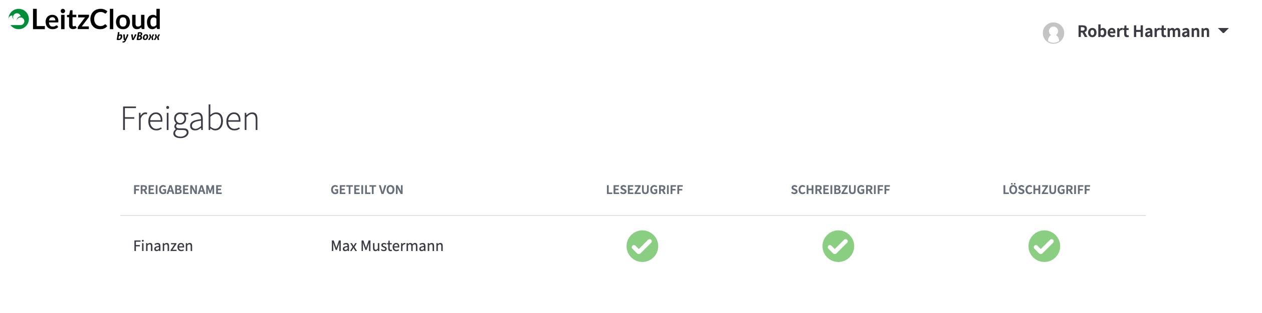 LeitzCloud Webansicht für Gäste